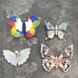 3/$15 Four butterfly pins
